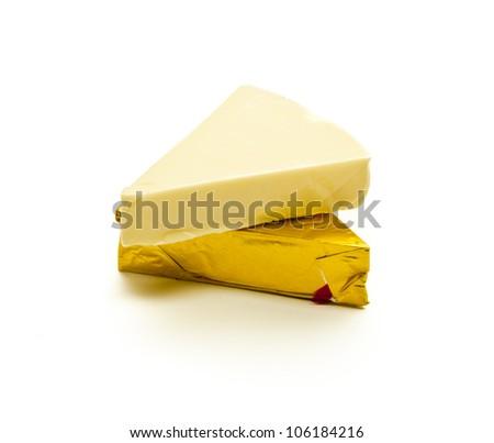 Triangular Cheese Portion - stock photo