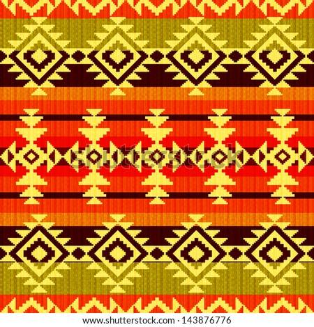 Tribal geometric striped pattern - stock photo