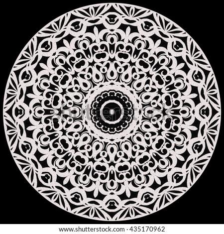 Tribal Mandala. Mandala created from fractals, Flower of Life. - stock photo