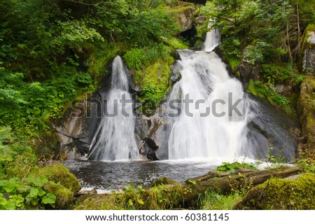 Triberg waterfalls in the Black Forest, Germany - stock photo