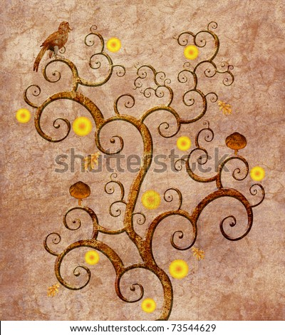 Tribute Klimt Tree Life Stock Illustration 73544629 - Shutterstock