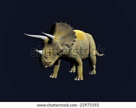 Triceratops an ancient jurassic extinct reptile Illustration - stock photo