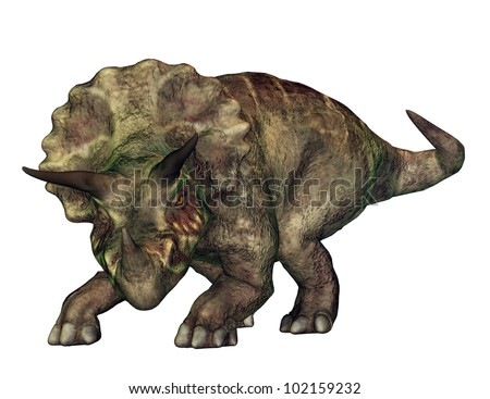 Triceratops Computer generated 3D illustration - stock photo