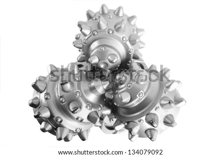 Tricone drill bit - stock photo