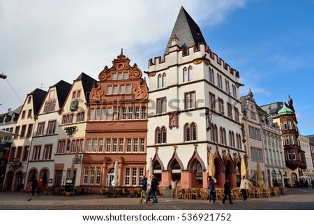 old town frankfurt main hessen germany stock photo. Black Bedroom Furniture Sets. Home Design Ideas