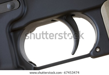 trigger that is on a semi automatic black rifle