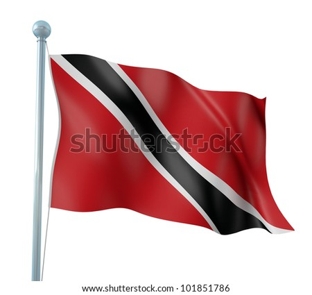 Trinidad and Tobago Flag Detail Render