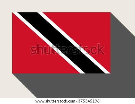 Trinidad and Tobago, flag in flat web design style. - stock photo