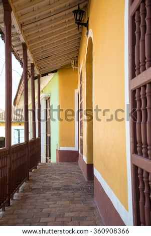 Trinidad de Cuba, everyday lifestyle in the Hispanic colonial village which is stopped in time as a living museum of the sugar production golden era