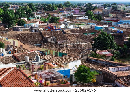 Trinidad old house on a sunny day - stock photo