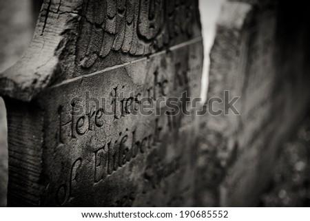 Trinity Church Graveyard - New York City, NY, USA - stock photo