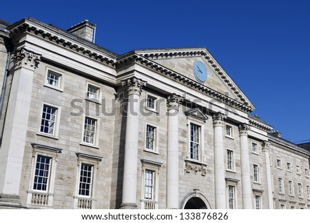 Trinity College in Dublin Ireland - stock photo