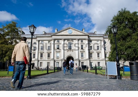 Trinity College in Dublin, Ireland - stock photo