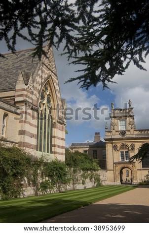 Trinity College, Oxford, UK - stock photo