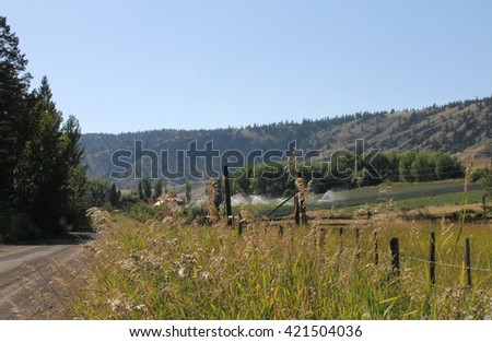 Trip to the ranch - stock photo