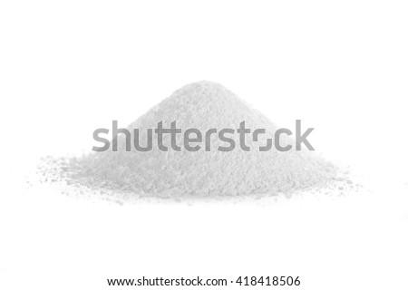 Trisodium phosphate, also known as  TSP or Sodium phosphate tribasic, is an inorganic compound used as an alkaline cleaning agent, lubricant, food additive, stain remover and degreaser. Na3PO4. - stock photo