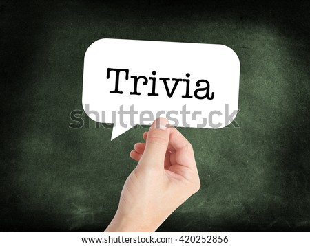 Trivia written on a speechbubble - stock photo