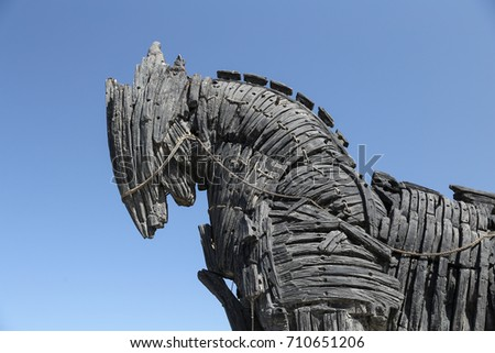 Trojan Horse in movie Troy in Canakkale City, Turkey