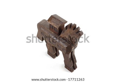trojan horse isolated on white - stock photo