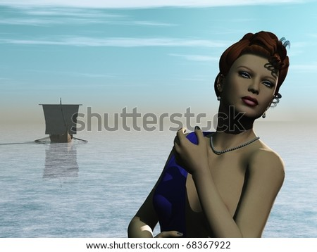 Trojan Princess - stock photo