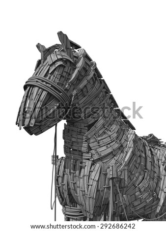 Trojan Virus Metaphor  - stock photo