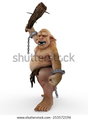 troll monster cartoon - stock photo