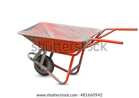 Trolley for Construction in white background