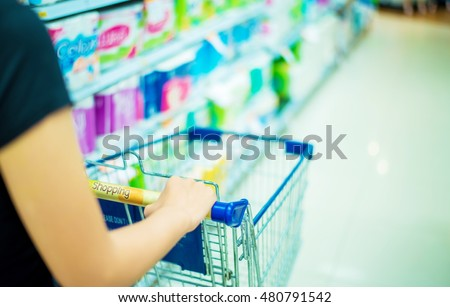 Trolley in a supermarket