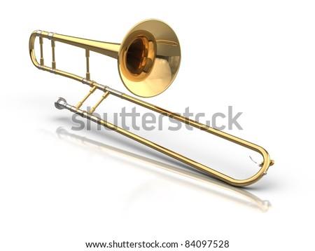 Trombone. - stock photo