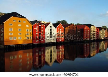 Trondheim in Norway - stock photo