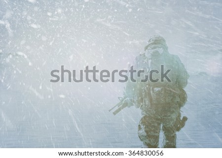 Trooper winter storm - stock photo