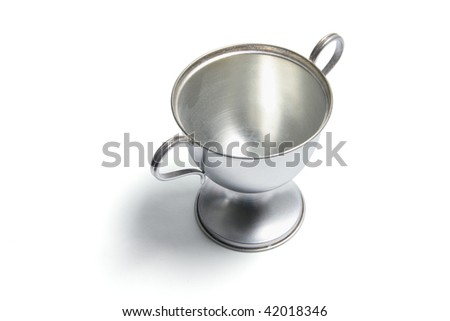 Trophy Cup on Isolated White Background