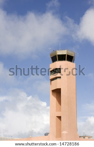 tropical airport air traffic control tower