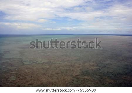 Tropical Batt Reef off the coast of Port Douglas, far north Queensland, Australia - stock photo
