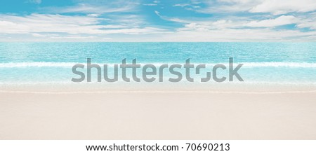 Tropical beach and ocean - stock photo