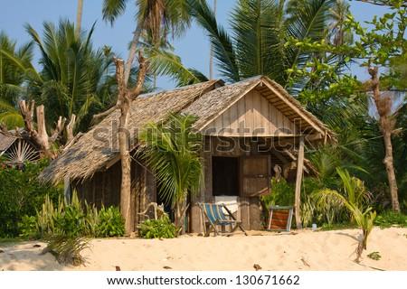 Tropical beach house in Thailand - stock photo