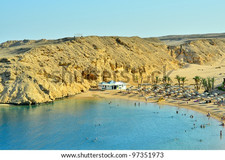 Tropical beach (Hurghada, Egypt)