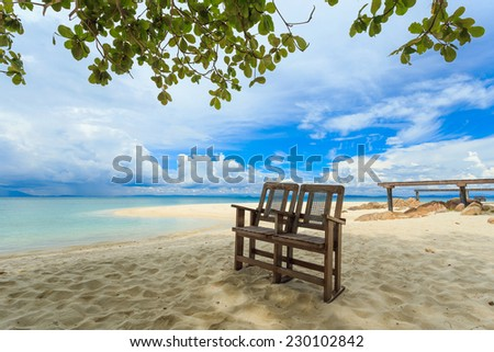 Tropical beach in Munnork island, Rayong, Thailand