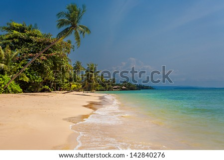 tropical beach in Thailand - stock photo