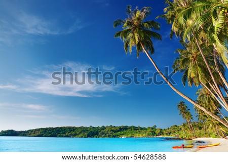 Tropical beach, Kood island, Thailand - stock photo