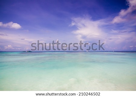 Tropical beach of Andaman Sea in Tachai island - Thailand - stock photo