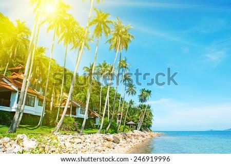 Tropical Beach Resort - stock photo