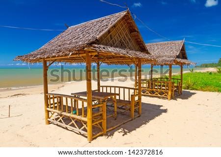 Rural thai jungle hut stock photo 26585602 shutterstock for Model beach huts
