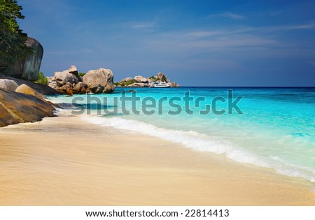 Tropical beach, Similan Islands, Andaman Sea,Thailand - stock photo