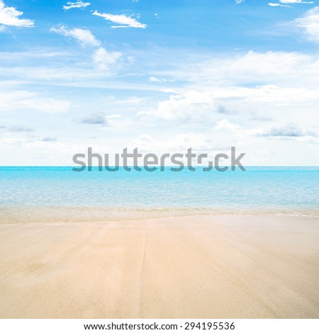 Tropical beach summer nature paradise - stock photo