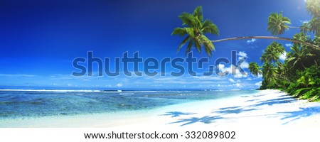 Tropical Beach Travel Holiday Vacation Leisure Nature Concept - stock photo
