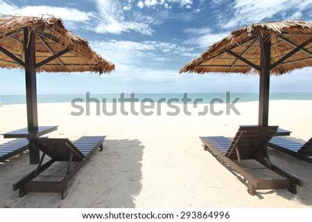 Tropical beach vacation - stock photo