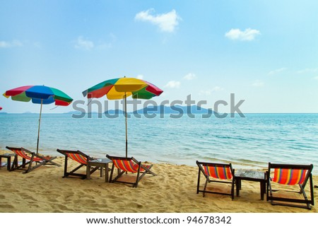 tropical beach with space for the text