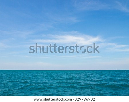 Tropical blue sky and sea - stock photo