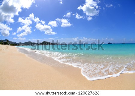 Tropical Caribbean Beach - stock photo